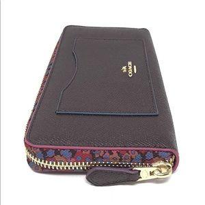 Coach Accordion Zip Wallet With Edgepaint F22763